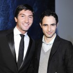 Evan Lysacek and Zac Posen