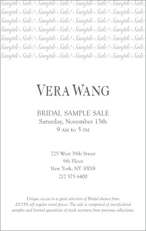 Bridal Sample Sale 2010