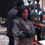 Vera Wang on set