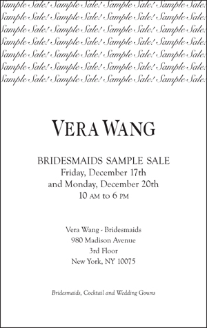 Bridesmaids Sample Sale