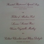Our menu card