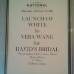 Launch of White by Vera Wang