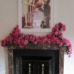 Flower and fireplace