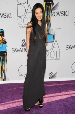Here, Vera Wang rocking the Gabriella heel from her Lavender Collection (one of her faves!)
