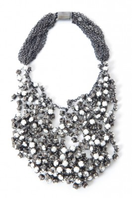 Vera Wang Wrapped Rhinestone Necklace
