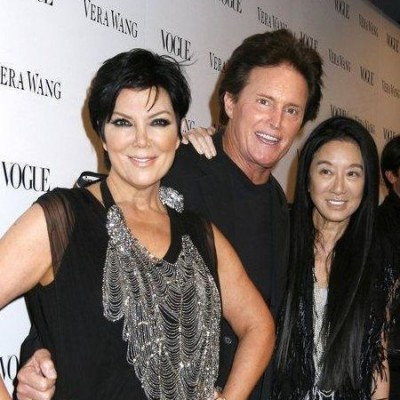 Vera with Kris and Bruce at the launch of V's new store on Melrose Ave. in LA