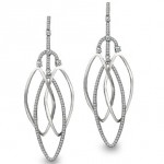Platinum and diamond chandelier earrings by Bergio
