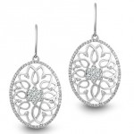 Platinum and diamond earrings by Phyllis Bergman