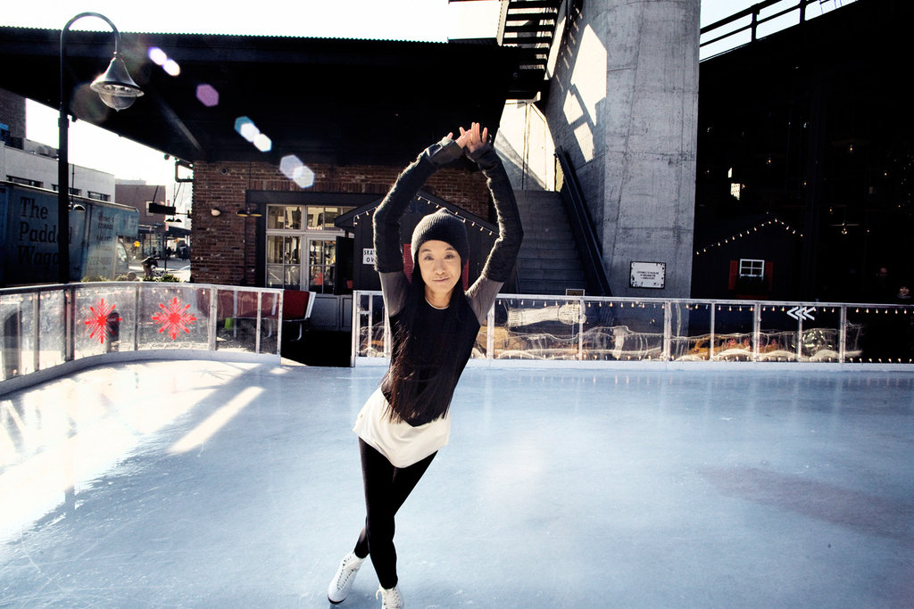 """The designer Vera Wang at the Standard Hotel's ice skating rink."" 