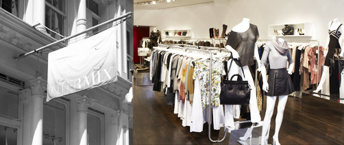 Just around the corner from the Vera Wang Mercer Street store you will the fashion hot spot, Intermix. 98 Prince Street