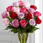 Roses are the classic Vday gift that no girl tires of. Vera Wang bouquets are available at www.FTD.com