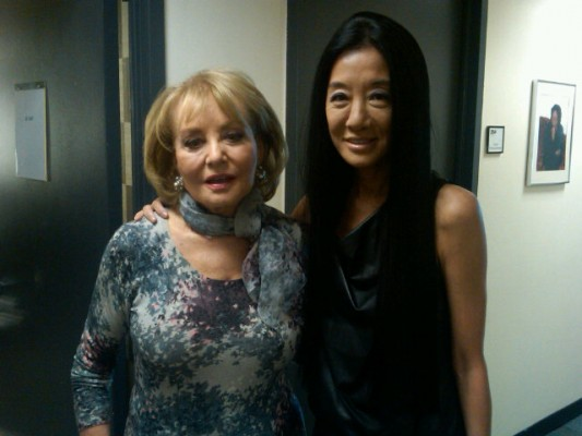 Vera Wang and Barbara Walters